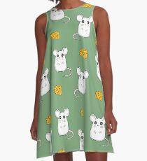 Cute Mouse pattern A-Line Dress