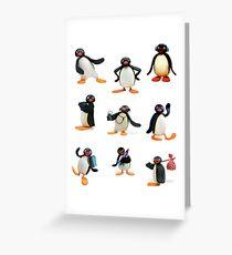 Pingu mood Greeting Card