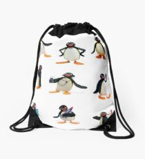 Pingu mood Drawstring Bag