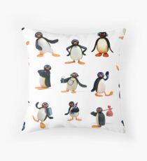 Pingu mood Throw Pillow