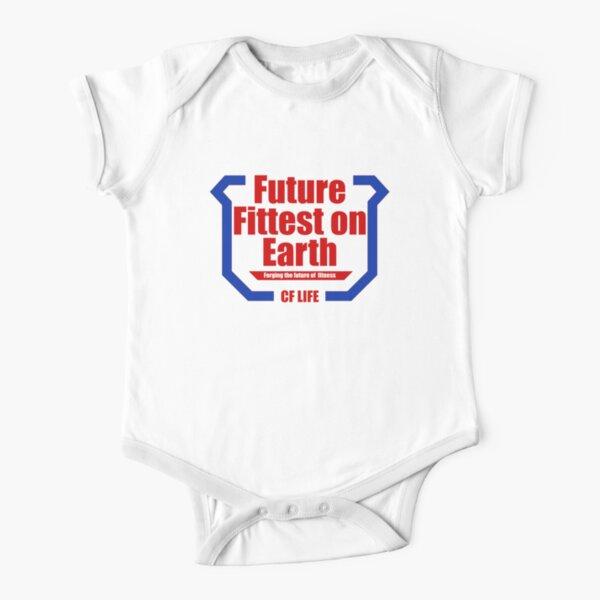 Future Fittest on Earth - versión para adultos Body de manga corta para bebé