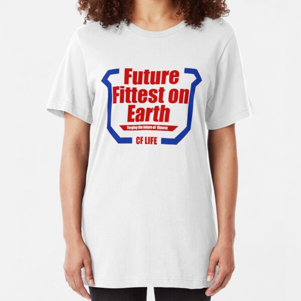 Future fittest on earth - adult version Slim Fit T-Shirt