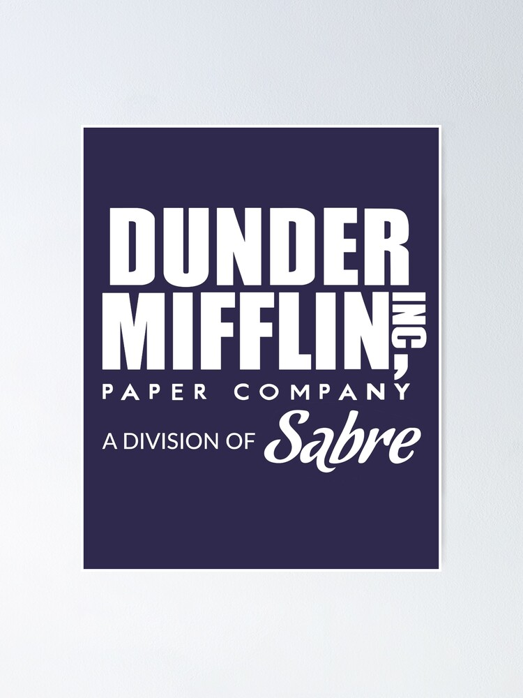 The Office Dunder Mifflin Paper Company Framed Poster or Framed Canvas