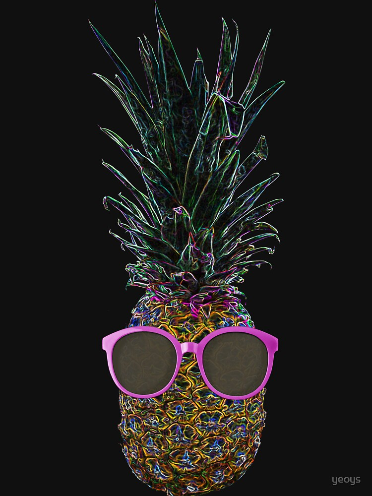 Pop Art Pinapple Wearing Pink Sunglasses > Funny Fruit by yeoys