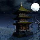 Moon-Lit Temple by Keith Reesor