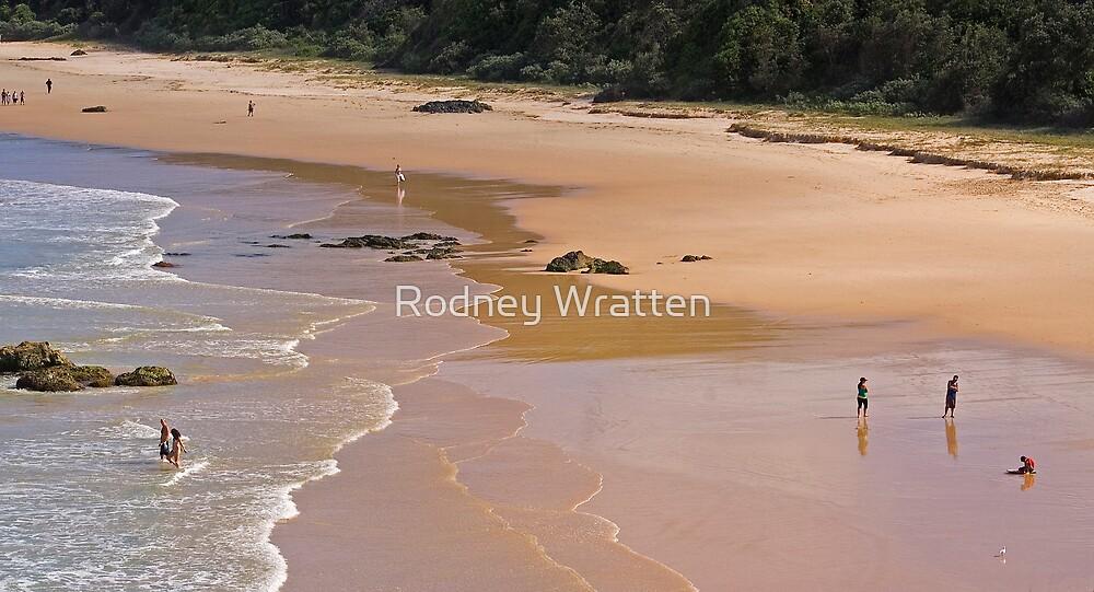 Beach scene by Rodney Wratten