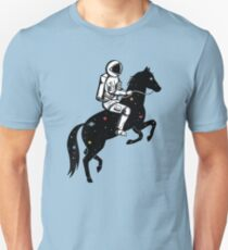 Astronaut and Horse Unisex T-Shirt