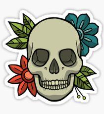 Flowers Skull Sticker