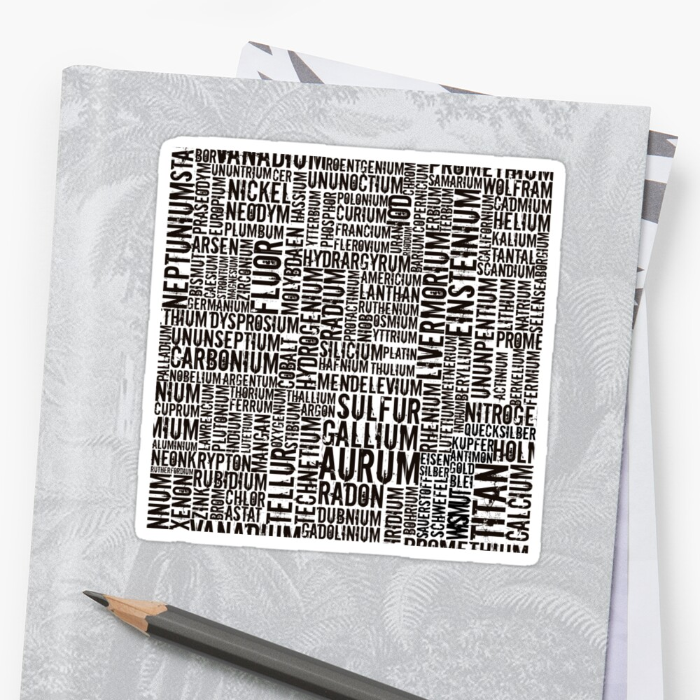 Chemical Elements Sticker