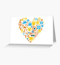 Vector Icons Heart Greeting Card