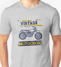 Vintage Motocross Dirt Bike Graphic Design Slim Fit T-Shirt