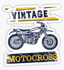 Vintage Motocross Dirt Bike Graphic Design Sticker