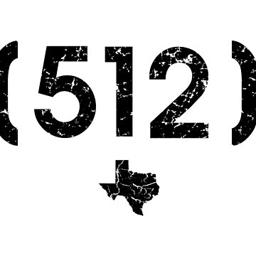 Area Code 512 Texas by BearSquared
