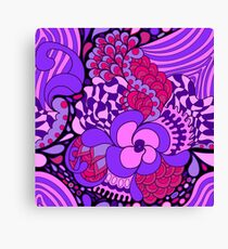 60s hippie psychedelic pattern Canvas Print