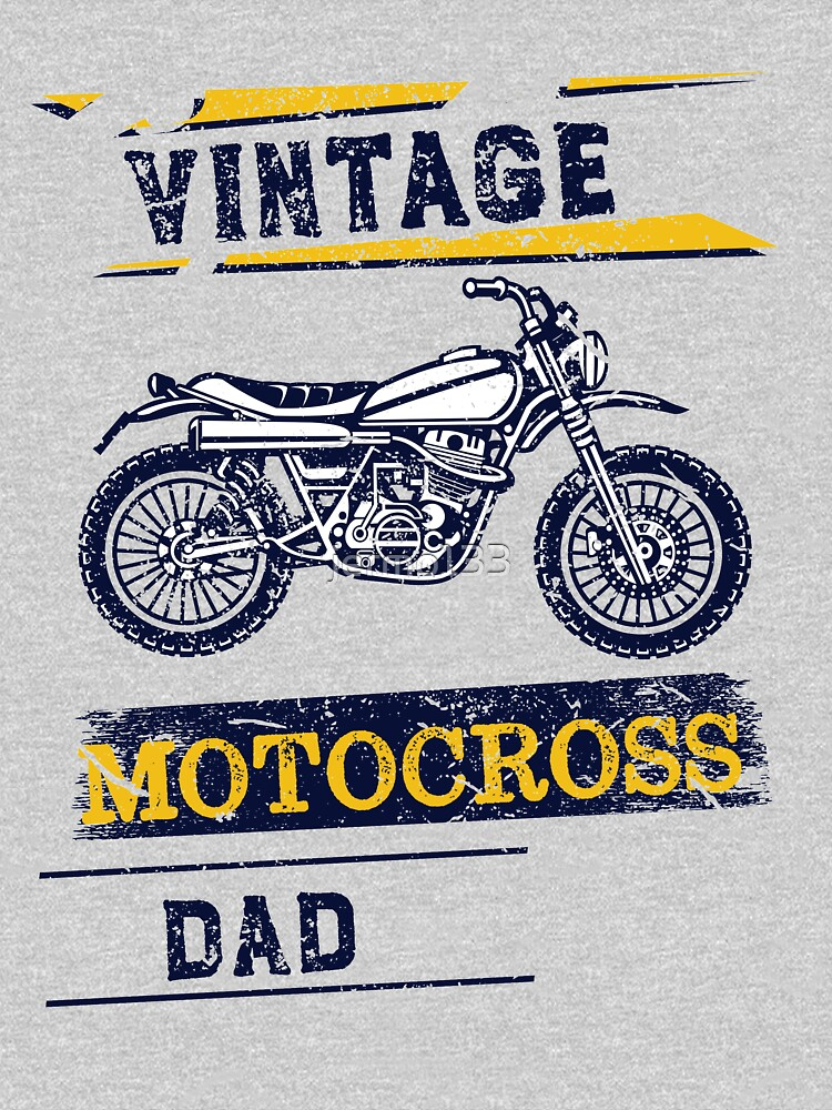 Vintage Motocross Dad Dirt bike Graphic Design by jermo133