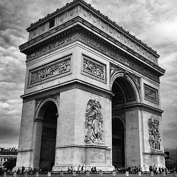 Arc De Triomphe in Paris by BackpackPhoto