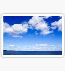 Dramatic cloudscape. Photographed in Saint Petersburg, Russia  Sticker