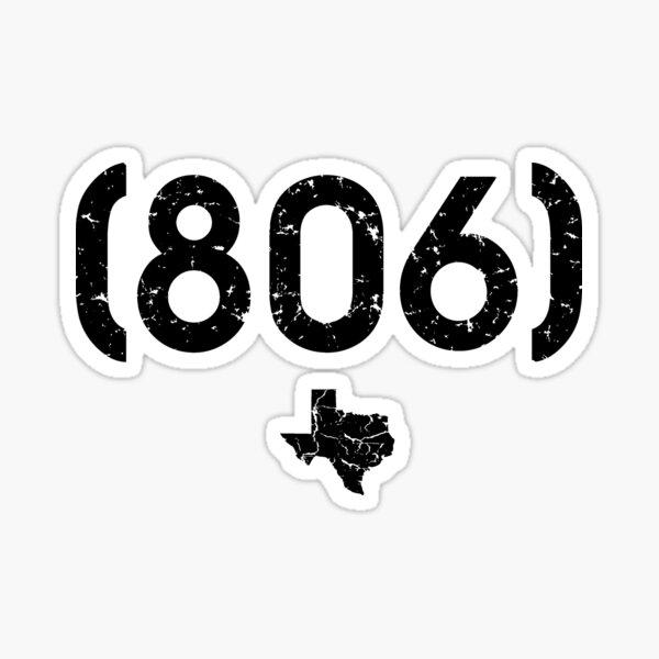 Código de Area 806 Texas Pegatina