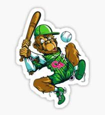 Baseball Monkey - Lime Sticker