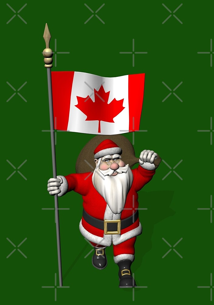Santa Claus With Flag Of Canada by Mythos57