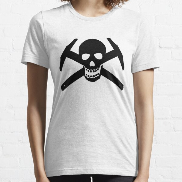 Architectural Jolly Rogers - Black Image Essential T-Shirt