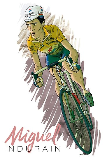 Miguel 'the extraterrestrial' indurain by cycling-legends