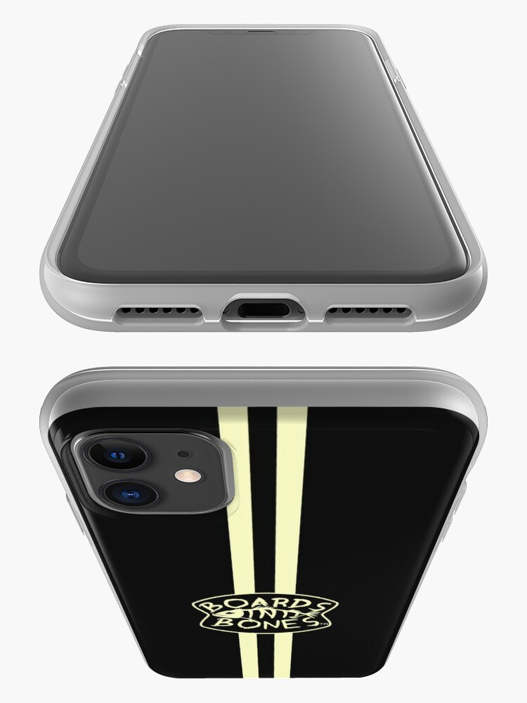 Alternate view of Charcoal with Stripes and Logo iPhone Case & Cover