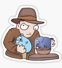 Indiana Go PHP Sticker