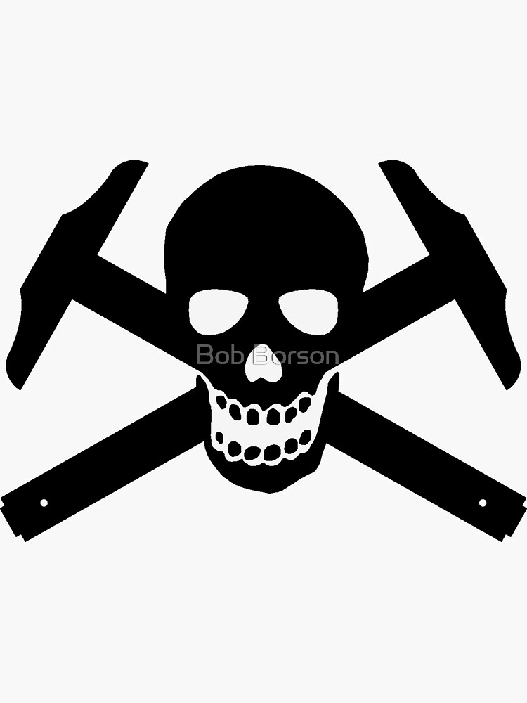 Architectural Jolly Rogers Black Image (sticker only) by bobborson