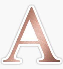 Rose Gold Metallic Alpha Sticker