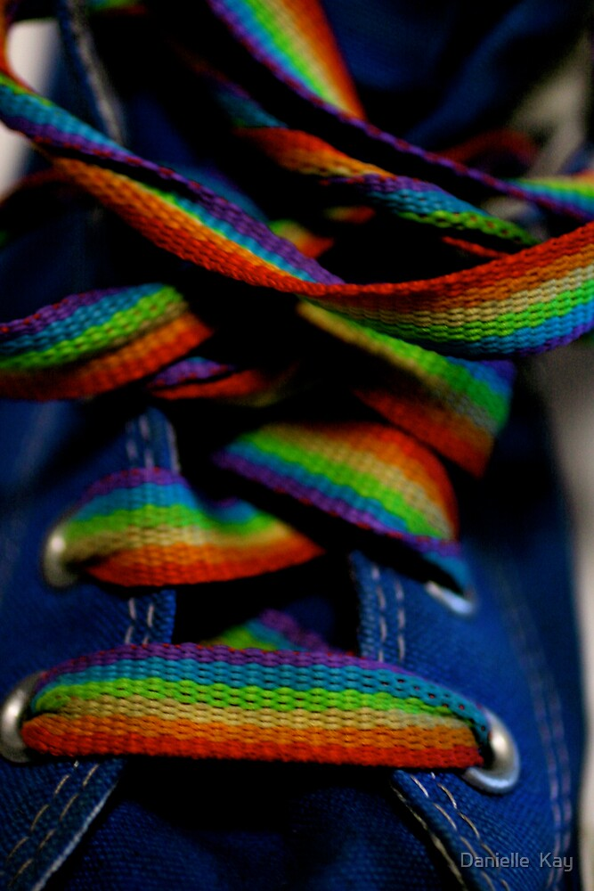 rainbow laces by Danielle  Kay