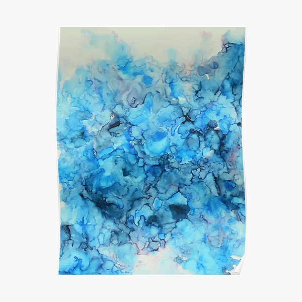 Polar - Alcohol Ink Painting Poster