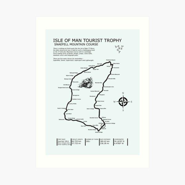 The Isle of Man TT Art Print