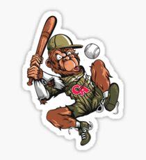 Baseball Monkey - Teak Sticker