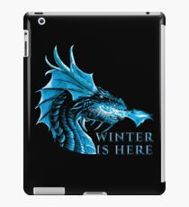 Winter is Here Blue Ice Flames Crystal Eyes Fantasy Zombie Dragon Cool Design iPad Case/Skin