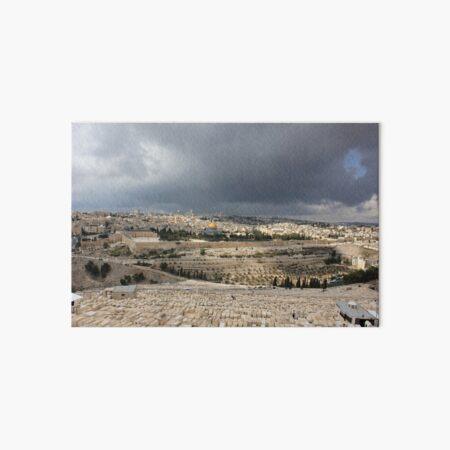 Israel Jerusalem Altstadt Historic Town Felsendom Dome of the Rock Ölberg Mount of Olives Galeriedruck