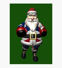 US Santa Claus At Boxing Day Photographic Print