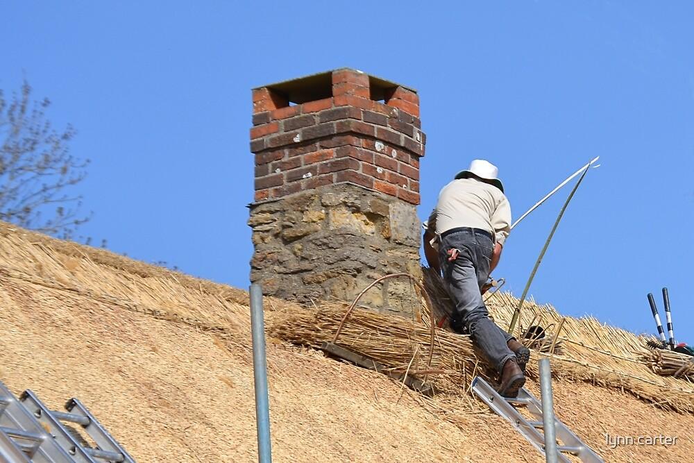 Thatcher At Work... Abbotsbury, Dorset Uk by lynn carter