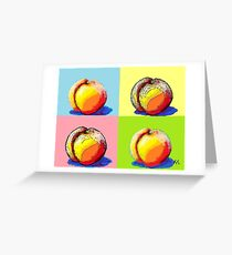 4 Peaches, Like Andy Warhol Greeting Card