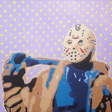 Jason Vorhees Horror Icon Pop Art by rebeccagalardo