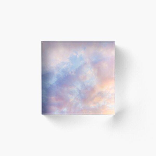 Pink sky Acrylic Block