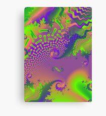Interconnected Metallic Fractal Canvas Print