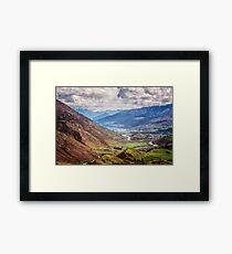 Crown Range Road New Zealand View Framed Print