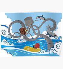 Mech Kraken Poster