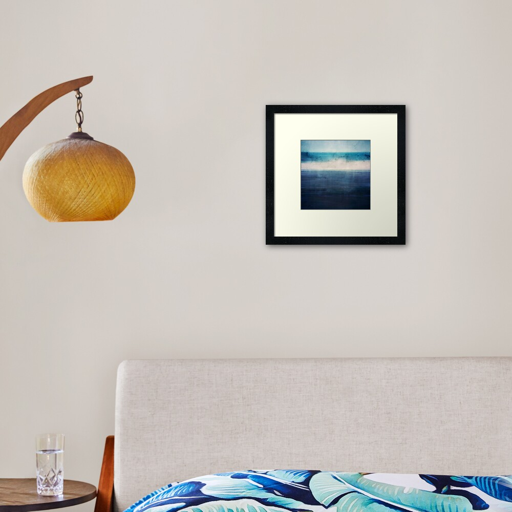 Abstract Seascape No 3 Framed Art Print