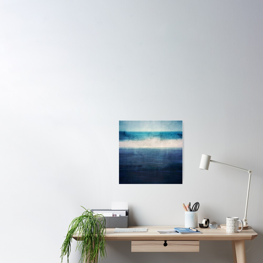 Abstract Seascape No 3 Poster