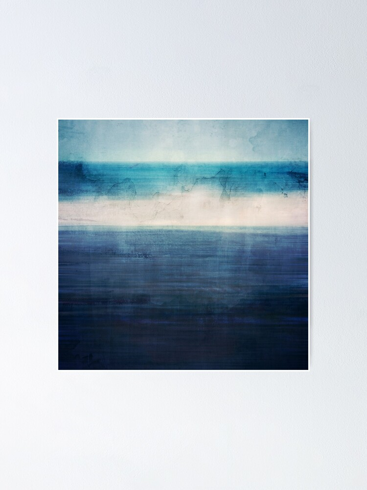 Alternate view of Abstract Seascape No 3 Poster