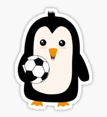 Soccer Penguin with ball Rg3ps Sticker