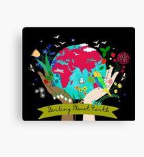 Darling Planet Earth Canvas Print