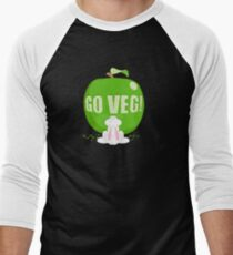 GO VEG! Competition Men's Baseball ¾ T-Shirt